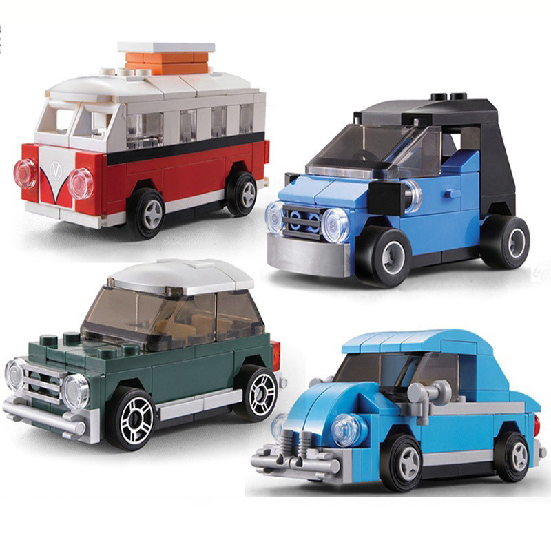 Decool Technic City Creator Mini Smart Beetle T1 Camper Van Figure Blocks Construction Bricks Toys For Children Compatible Legoe