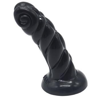 XL silicone horn anal plug