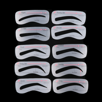 3/10 style/set Card Eyebrow Stencil Grooming Shaper Template Makeup Tools Stickers eyebrow shaper cosmetic tool 1