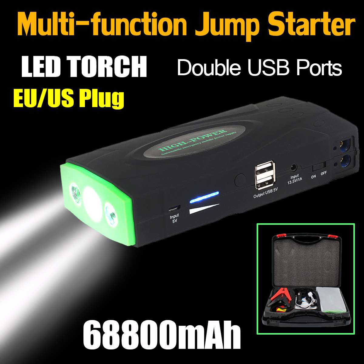 68800mAh 12V 600A LED Multifunction Jump Starter Portable Car Battery Booster Charger Booster Power Bank Starting Device image