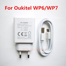 Novo original oukitel wp6 wp7 ue carregador adaptador de viagem plug + micro tipo-c cabo de linha de dados usb
