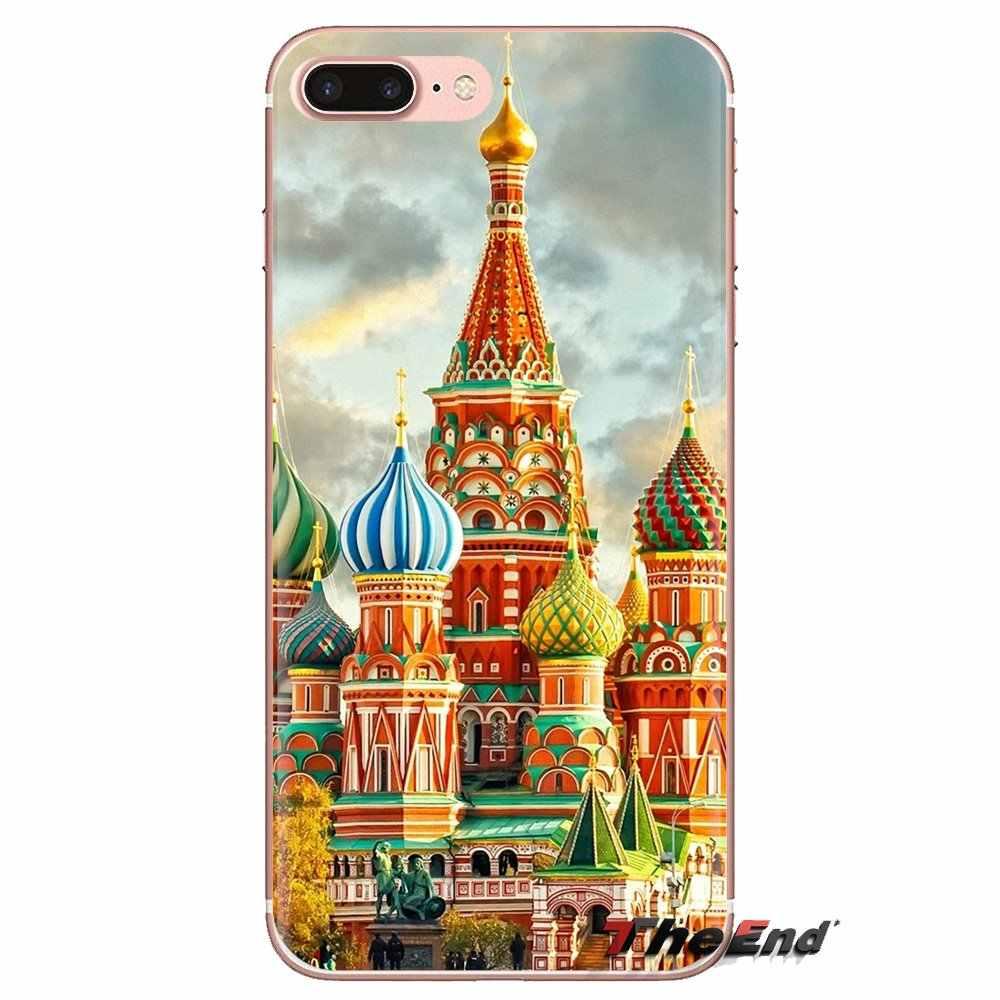 TPU bolsa transparente para Huawei Mate Honor 4C 5C 5X6X7 7A 7C 8 9 10 8C 8X20 Lite Pro Ciudad Moscú Rusia arte ruso estudio