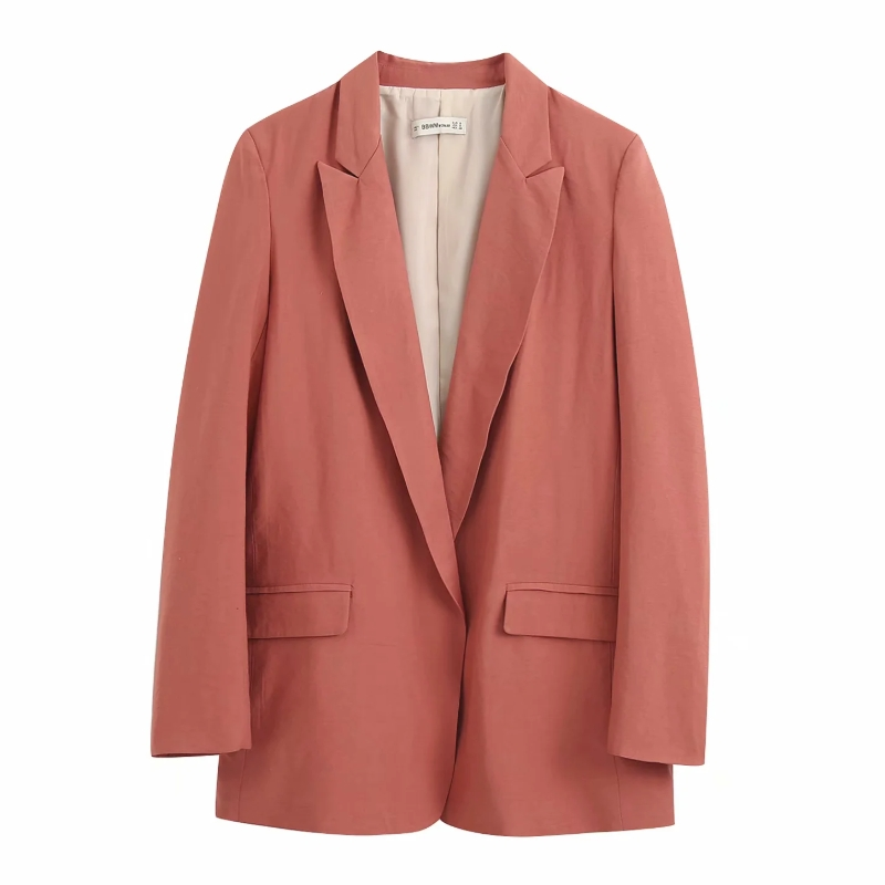 2020 Women Elegant Solid Color Soft Blazer Notched Collar Open Stitch Long Sleeve Female Causal Stylish Outwear Coats Tops CT394
