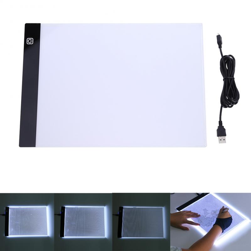 LED Craft Tracing Light Box Drawing Board Stencil Diamond Painting Thin Pad A4 Copywriting Three-stop Dimming Drawing Toys Kids
