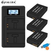 3Pcs 1800mAh LP-E12 LPE12 LP E12 Kamera Batterie AKKU + LCD USB Ladegerät für Canon M 100D Kuss x7 Rebel SL1 EOS M10 EOS M50 DSLR