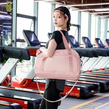 Pink Crossbody Shoulder Handbag Gym Sport Bag Men For Gym Women Fitness Bag Travel Training Bags Yoga Mat Bag Sac De Sport 5