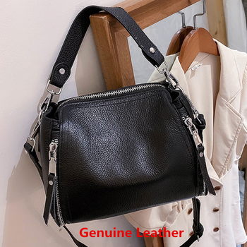 Designer Genuine Leather Messenger Bags For Women High Capacity Handbags Travel Luxury Cowhide Crossbody Bag Female Shoulder Bag 1