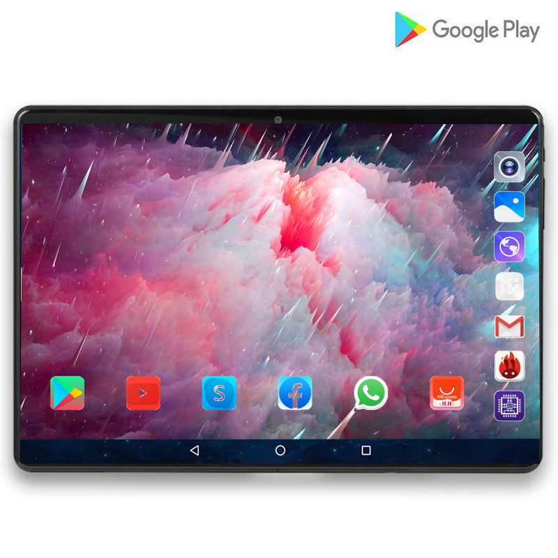 128G Super Tablet 128G Global 3G WIFI Sea Bluetooth Android 9.0 10 Inch Tablet Octa Core 6GB RAM 128GB ROM 2.5D Screen Tablets