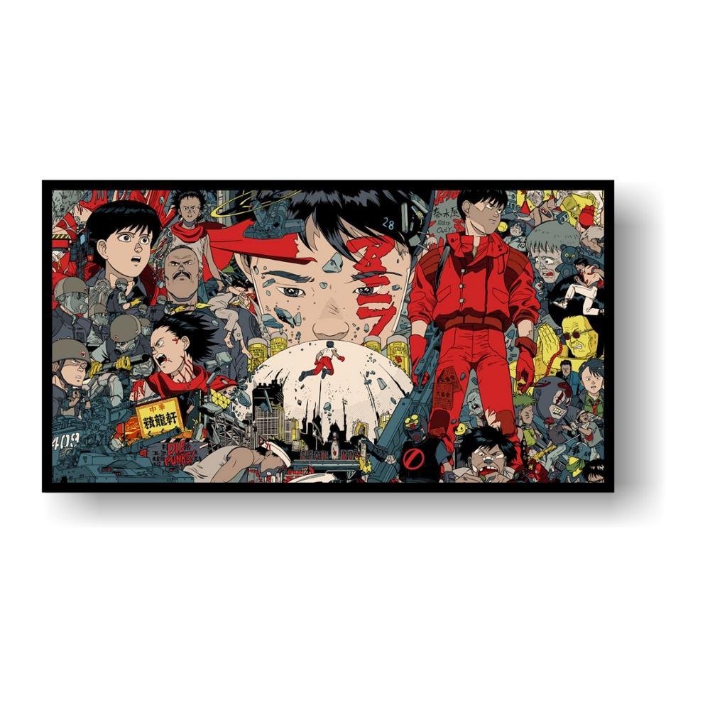 Akira Red Fighting Japan Anime Silk Cloth Poster 13x20 24x36 inch