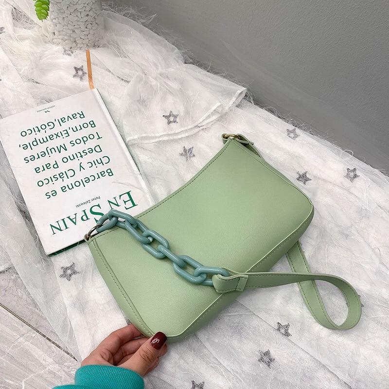 Bags Women Shoulder Bag Acrylic Chains Handbags Fashion New Crossbody Solid Casual Designer 2020 Summer