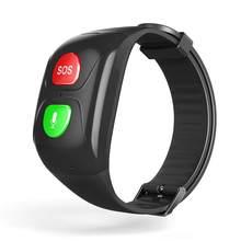Idosos sos inteligente pulseira relógio inteligente bluetooth gps informações empurrar freqüência cardíaca sono monitoramento anti-perdido relógio de pulso
