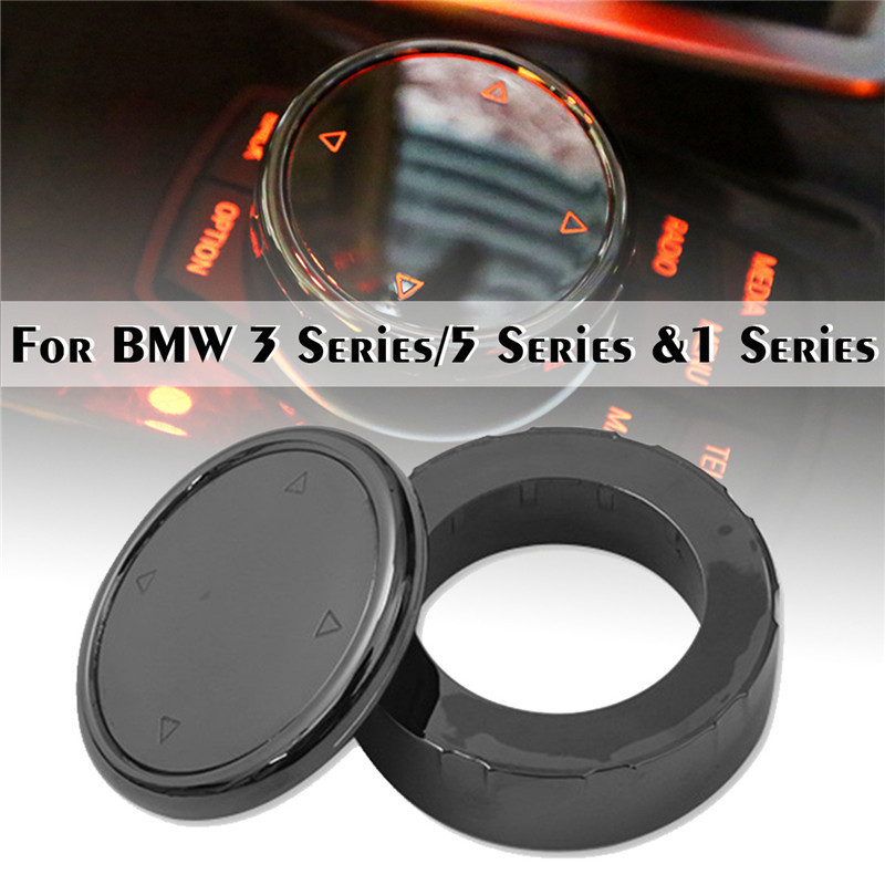 Car Multimedia Button Cover Knob Frame Trim For BMW F10 F20 F30 For NBT Controller Only Ceramic For iDrive Button(China)
