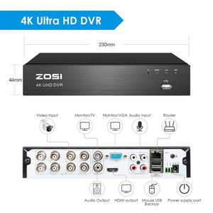 Image 2 - ZOSI vidéosurveillance DVR 4 en 1 Ultra HD 4K, 8CH, vidéosurveillance, enregistreur vidéo numérique h265, détection de mouvement, pour caméra analogique 5mp 8mp