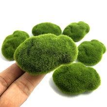 4 SizeArtificial moss rock flocking stone lawn micro landscape succulent DIY decoration Accessories Grass Aquarium Garden Plant