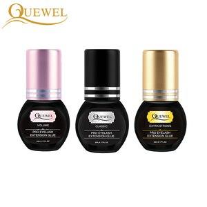 Image 4 - Quewel Eyelashes Extension Glue Set 5ml Lash Glue And 5g Gel Remover Pen 1 2 S Quick Drying Removing Individual Eyelash Tool