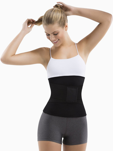 Neoprene Sauna Women Waist Trainer Trimmer Belt Fat Burner Sweat Corset Body Shaper Ab Cincher for Workout Weight Loss 2