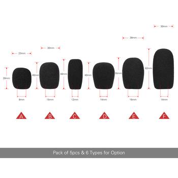5 sztuk Mini mikrofon szyby przednie Mic pianki obejmuje Lapel Lavalier zestaw słuchawkowy z mikrofonem czarne kolory tanie i dobre opinie NONE CN (pochodzenie) Mic Covers