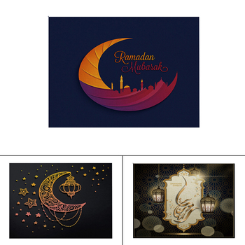 Muslim Ramadan Decoration Offee Tea Hot Drink Pot Holder Mats Placemat Kitchen Decoration For Home Muslim Eid Mubarak image