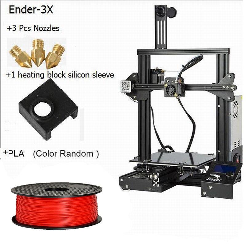 Kit de impresora 3D DIY económico Creality Ender 3 con ranura en V, nueva plataforma de impresión de fasion, más fácil de nivelar - 2