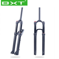 BXT 2020 Mountain Bike Air Suspension Bike Plug Fork 130MM Travel Magnesium Alloy disc brake 27.5er 29er bicycle suspension fork