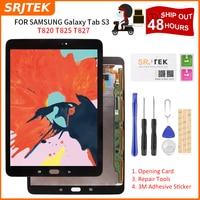 SRJTEK For Samsung Galaxy Tab S3 9.7 T820 T825 T827 LCD Display Touch Screen Digitizer Glass LCD Matrix SM T820 SM T825 Assembly
