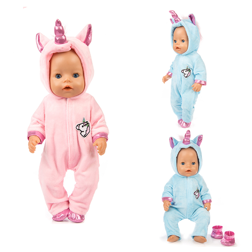 High Quality Pony Set Doll Clothes Fit For 43cm Baby Doll Clothes Reborn Doll Accessories