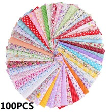 100PCS 10x10cm DIY Square Floral Cotton Fabric Patchwork Cloth Crafts Sewing Kit DIY Apparel Sewing Fabric 45x45cm thin soft cotton twill printed fabric diy sewing patchwork table cloth check fabric high quality cotton fabric cloth