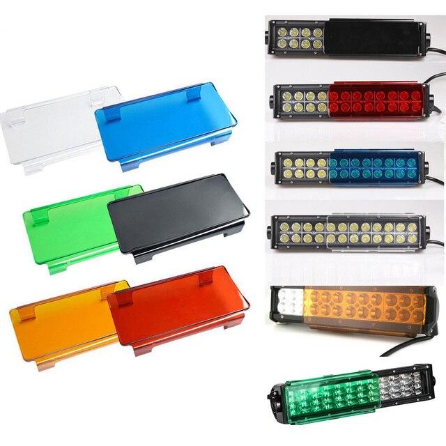 "2pcs 6 ""אינץ/8"" led אור בר אבק הוכחת עדשת מכסה עבור 7/12/20/22/32/42/50/52 אינץ Offroad ישר מעוקל אור LED בר SUV"
