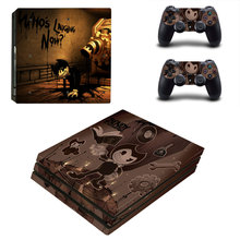 Bendy and the Ink Machine Style Skin Sticker for PS4 Pro Console And Controllers Decal Vinyl Skins Cover YSP4P-3348