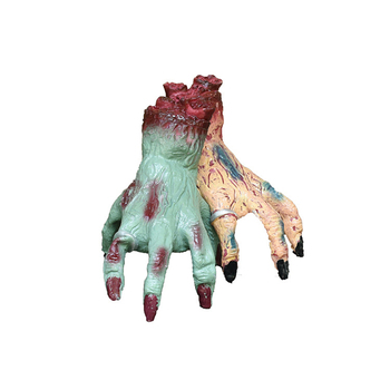 2 Pcs Halloween Decorations Crawling Monster Hand Walking Fake Hand Bloody Hand Haunted House Bar Horror Props Party Supplies