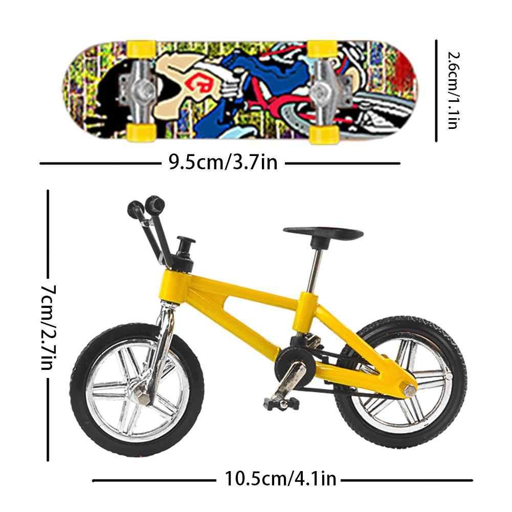 Mini Vinger Skateboard Vinger Bike Plastic Toets Speelgoed Vinger Scooter Skate Boarding Klassieke Chic Spel Jongens Bureau Speelgoed