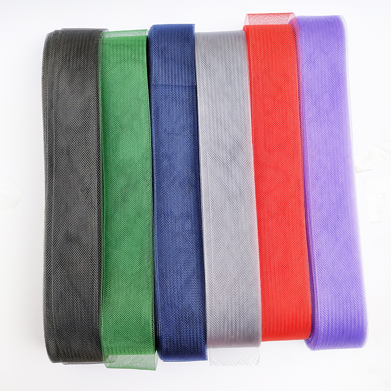 1pcs Soft Hair Horse Mesh Braid Polyester Mesh fabric Flat Plain Crin Ribbon For crafts,Women diy hat #12Color Various sizes