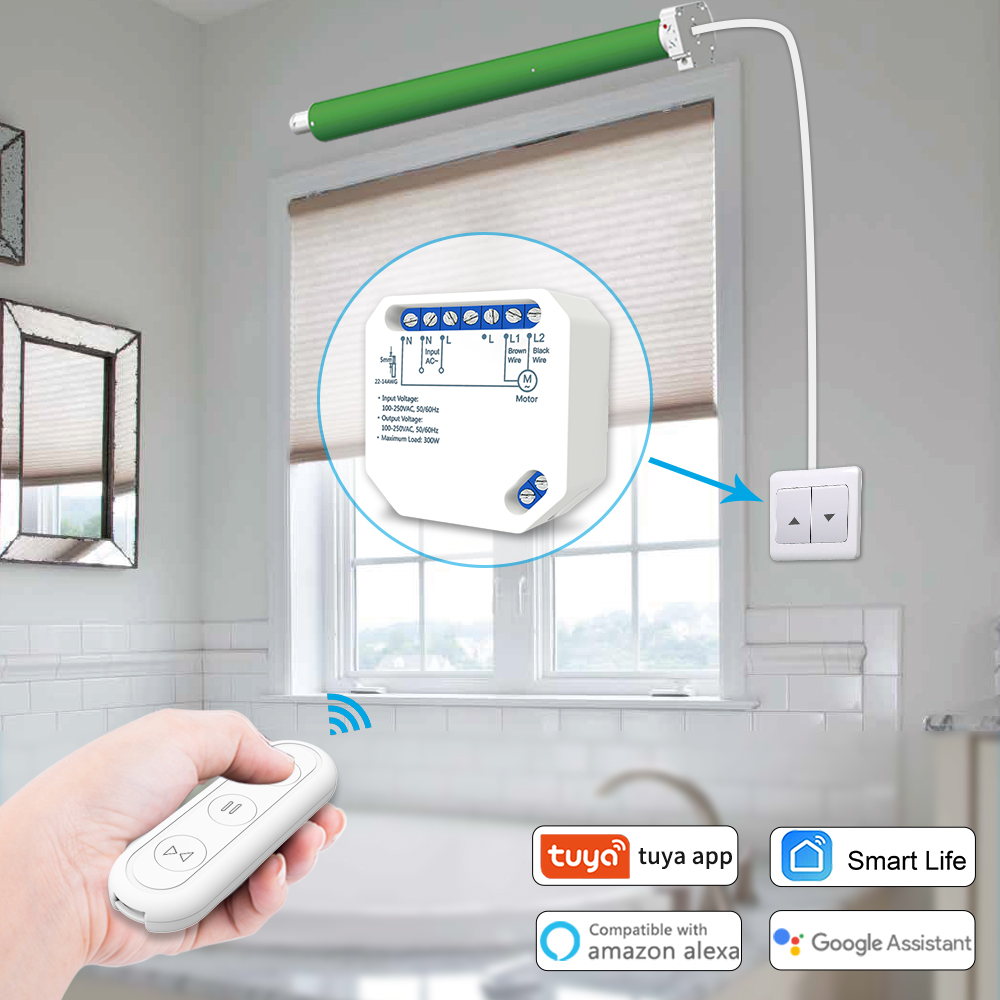 Clearance SaleSwitch-Module Curtain Roller-Shutter Timer Blinds Remote-Control Tuya WIFI Echo Smart
