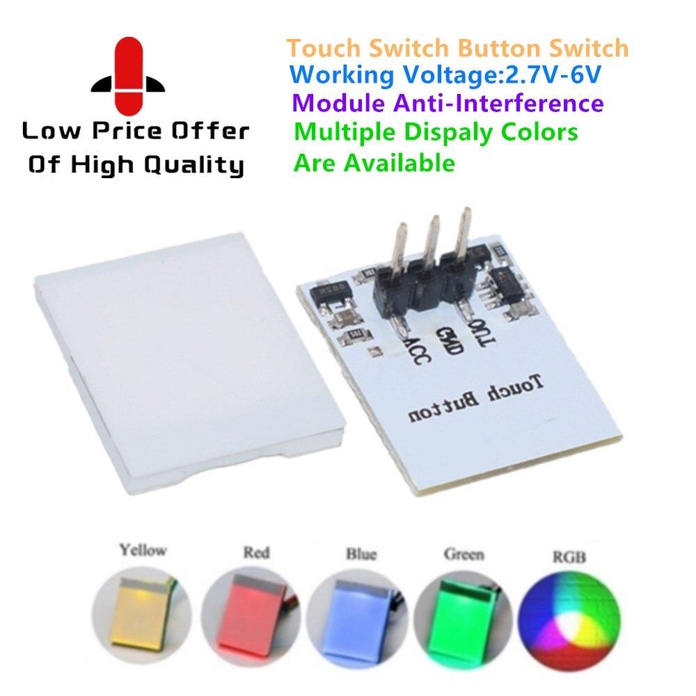 Емкостный сенсорный переключатель RGB светодиодный Сенсор модуль автоматического включения света нттм DIY электронная плата Multi Цвет анти-по...
