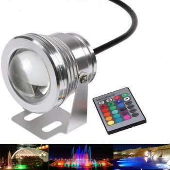 DC12V Waterproof IP68 underwater RGB Led Light Aluminium fountain pool Lamp Lights 16 colors change + 24key IR Remote controller free shipping waterproof led light up serving tray multi colors rechargeable luminous led trays light 24 keys remote controller