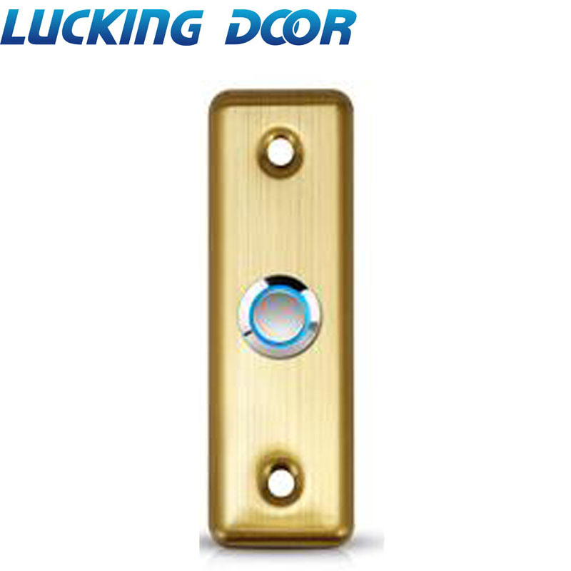 LED Backlight Stainless Steel Exit Button Push Switch Door Opener Release for Access Control   - title=
