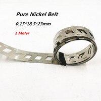 0.15x18.5mmx23mm حزام النيكل النقي 2P 18650 بطارية ليثيوم بقعة لحام النيكل قطاع النيكل بطاريات ليثيوم أيون المستخدمة بقعة لحام