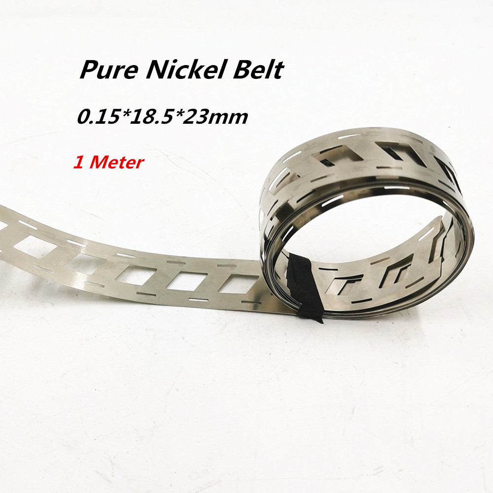 0.15x18.5mmx23mm Pure Nickel Belt 2P 18650 Lithium Battery Spot Welder Nickel Strip Nickel Li-ion Batteries Used Spot Welding
