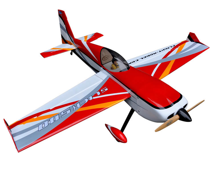 Flight Model Slick 64 20CC Fixed Wing RC Radio Controlled Airplane Model Gasoline & Glow Balsa Wood Plane Aircraft image