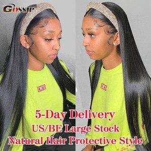 Straight Headband Wig Glueless Human Hair Wigs For Black Women Brazilian Gossip Affordable Remy Headband Wig Beginner Friendly