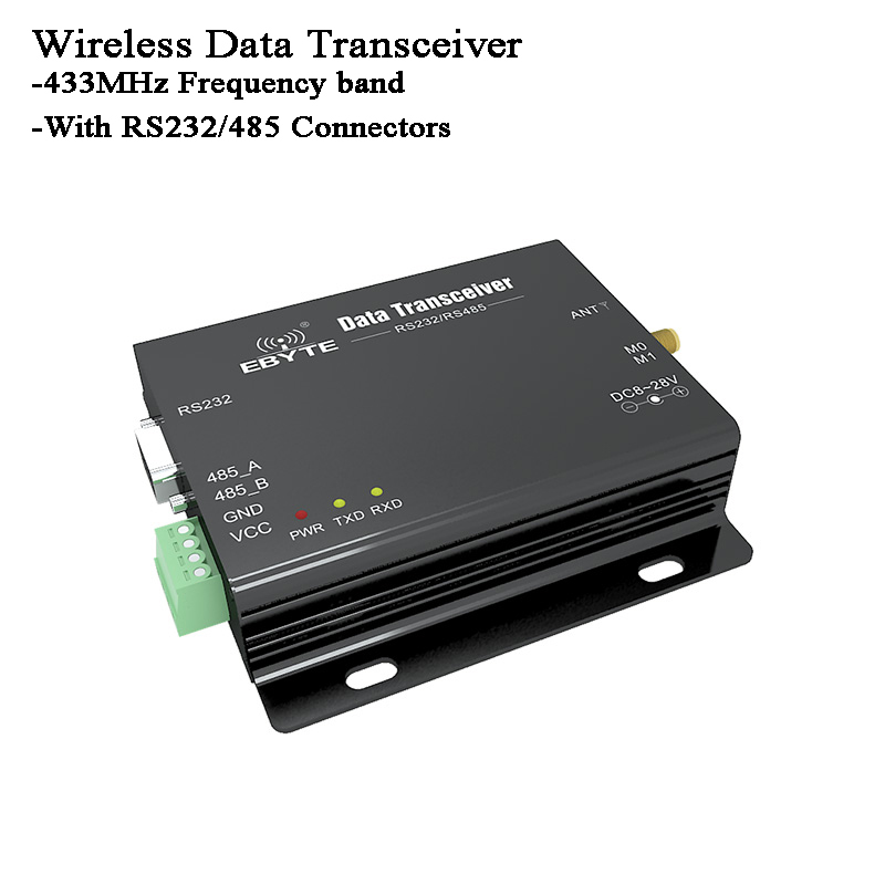 433MHz Wireless Data Transceiver/Transmitter/Receiver/Radio Modem Lora RS485/RS232 For Signal Monitor/Data Transparent Transmit