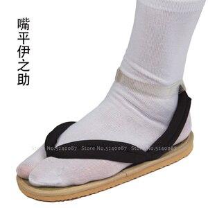 Image 5 - Anime Cosplay Kamado Nezuko Geta takunya iblis avcısı Kimetsu hiçbir Yaiba sandalet ayakkabı Kamado Tanjirou Agatsuma Zenitsu Flip flop