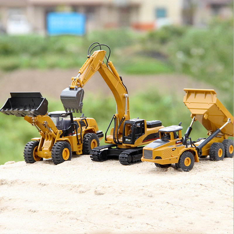 1:50 Alloy Metal Model Car Dump Truck Excavator Wheel Loader Diecast Construction Vehicle Toys Boys Birthday Gift Car Collection