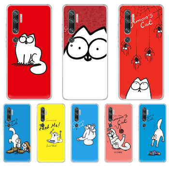 Simons Cat Phone Case cover hull For XIAOMI MI 3 4 5 5X 8 9 10 se max pro a2 9T note lite transparent coque 3D shell fashion image
