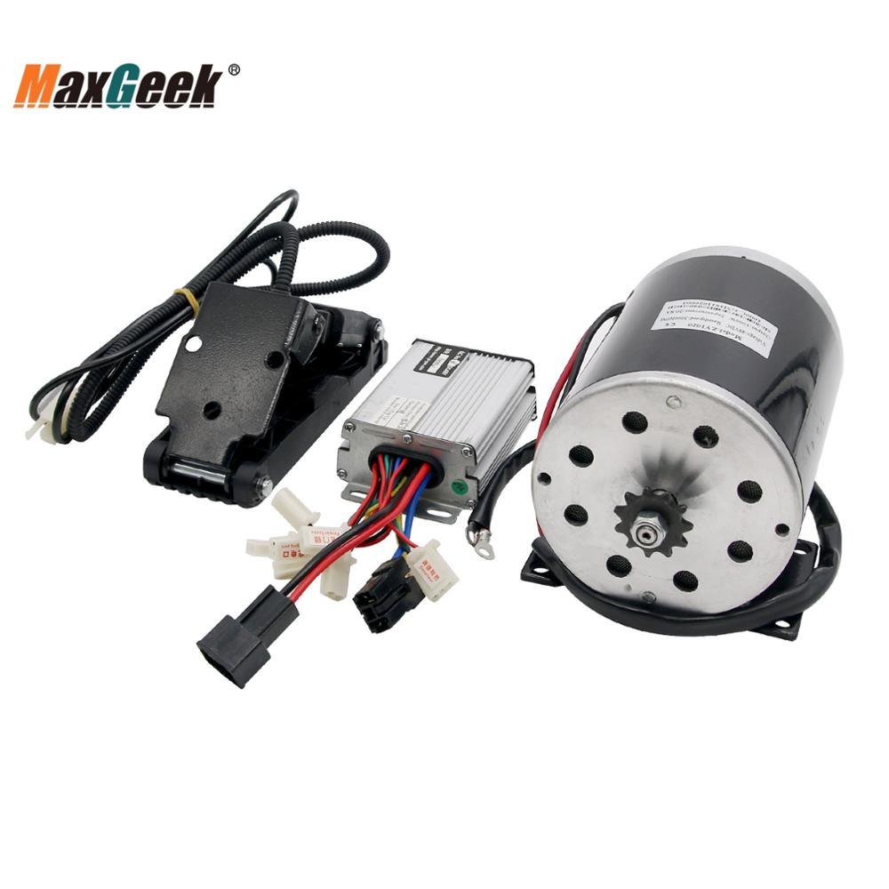 Maxgeek 48V 1000W DC Electric Motor Kit W/ Base Speed Controller & Foot Pedal Throttle