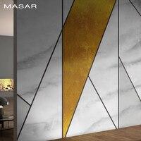 MASAR Simple fashion imitation marble mural geometric mosaic wallpaper living room background wall wallpaper Marble