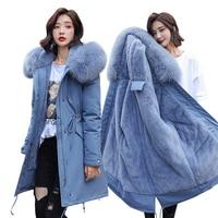 Winter Parkas 2019 winter 30 degree women's Parkas coats hooded fur collar thick section warm winter Jackets snow coat jacket