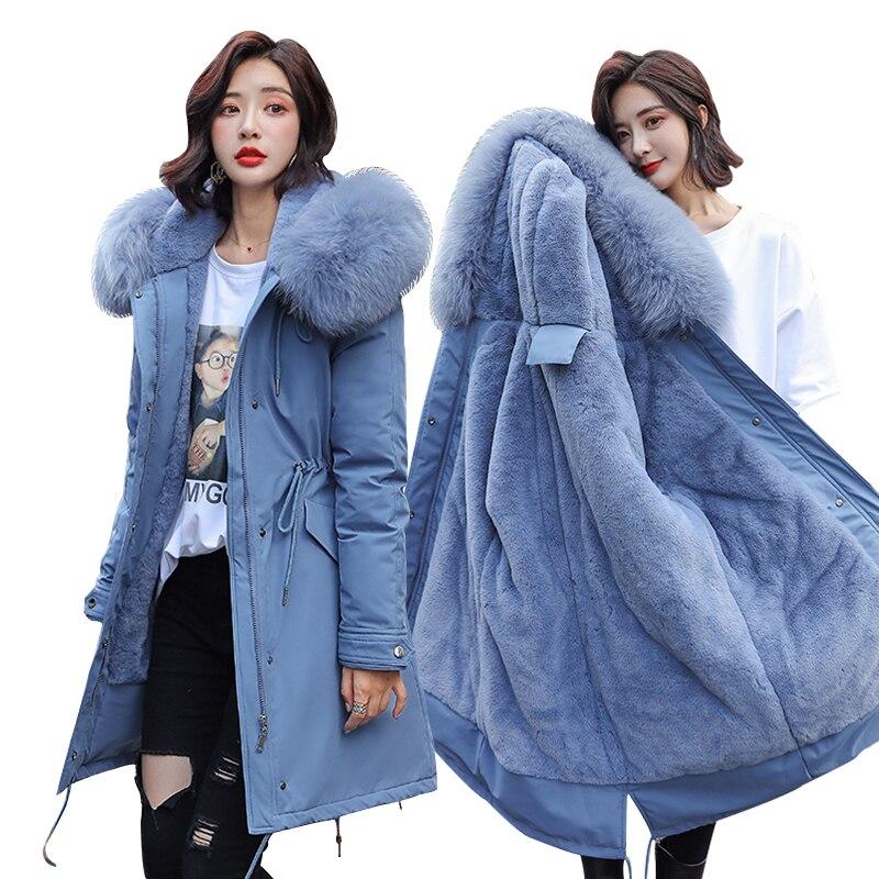 Winter Parkas 2019 Winter -30 Degree Women's Parkas Coats Hooded Fur Collar Thick Section Warm Winter Jackets Snow Coat Jacket