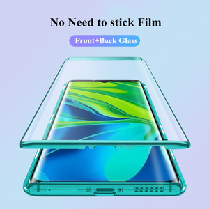 Image 5 - 360º Curved Screen Front+Back Double sided Full Body Metal Magnetic Adsorption Flip Protective Case Xiaomi Mi Note 10 CC9 Pro