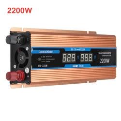 Inversor 500/1200/DC 12V W 2200/CA 220V LCD pantalla transformador de voltaje onda sinusoidal inversor de energía inteligente doble potencia del coche